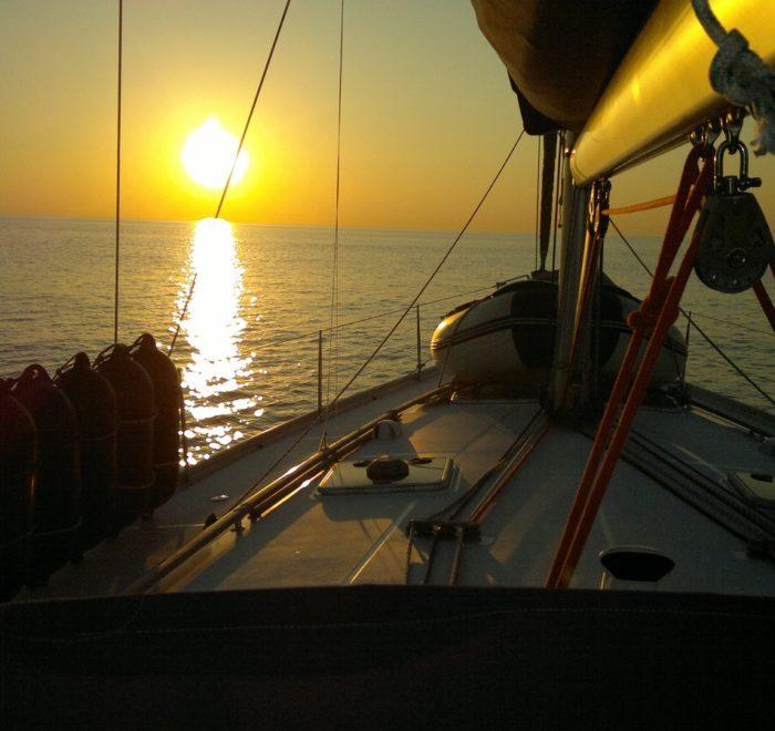 Sunset-Trip. Sunset-Segeln Ostsee, Segeln ab Stralsund