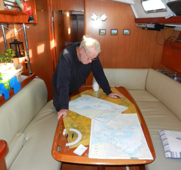 Segeltörn Ostsee, Navigation