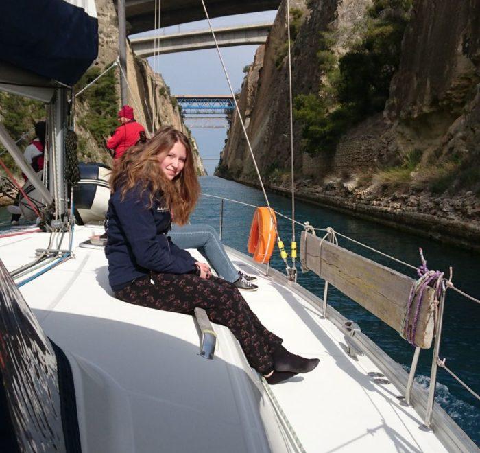 Mitsegeln Griechenland. Kanal von Korinth