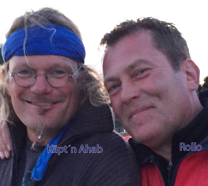 Zwei Skipper, Käpt´n Ahab und Rollo im Portrait. Sie segeln das November Race - Segeltörn im Herbst auf der Ostsee